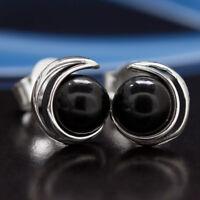 Onyx Silber 925 Ohrringe Damen Schmuck Sterlingsilber S0565