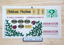 Lego STICKERS 7785 Batman Arkham Asylum Ambulance * NEW Condition