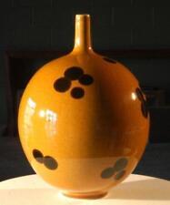 Gold polka dot vase, large