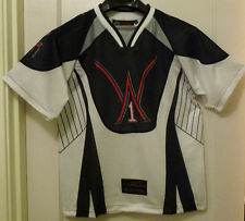 XXLarge (XXL) Wone, WHITE/BLACK/GRAY AND RED Short Sleeve Paintball Jersey