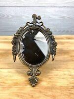 "Vintage Infant Samuel Wall Mirror 6"" Rococo Joshua Reynolds Italy"