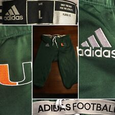 New Adidas University Of Miami Hurricanes Canes Football Game Pant Green Men's L