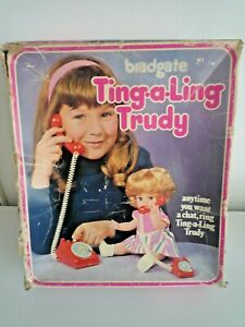 VINTAGE 1960'S BRADGATE TING-A-LING TRUDY DOLL IN ORIGINAL BOX WITH INSTRUCTIONS