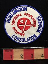 "Burlington Amateur Softball Association Patch ""CONSOLATION WINNERS"" ON CA 68WD"