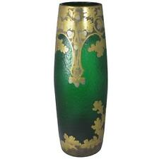 circa1890 Grand  Exhibition Glass Vase  by Francois-Theodore Legras,Saint-Denis