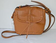 New $178 Sanctuary Handbags Leather Honey Laurel Canyon Crossbody Flap Purse