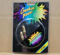 Crankin Power AS-TSL4AA 2 Male to 1 Female RCA Audio Y Adapter Cable NEW IN PKG