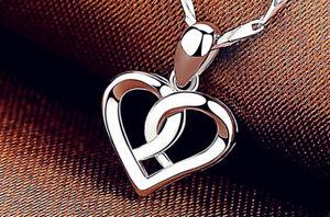 Swirl Heart Pendant 925 Sterling Silver Chain Necklace Womens Jewellery Gift UK