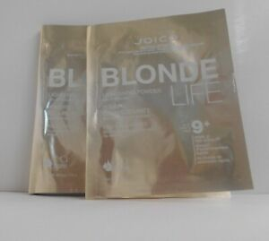 JOICO BLONDE LIFE 9+ Lightening Powder Lifts Up To 9 Levels (2 Packets) ~1.5 oz.