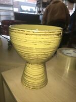 Vintage Nelson McCoy Miniature Yellow Vase Flower Holder Pottery