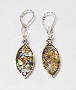 Premier Designs Jewelry Monterey Abalone Earrings in Silver