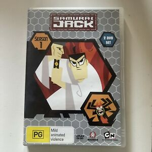 RARE! Samurai Jack Season 1 Series DVD 2 Disc Set Region 4
