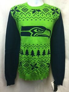 2018 SEATTLE SEAHAWKS 2-TONE UGLY COTTON SWEATER M L XL 2XL FREE SHIPPING