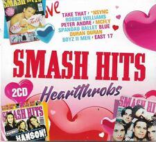 Smash Hits Heartthrobs 2 x CD Album V/A Sealed Aha Take That Human League etc