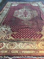 12x18 Antique Oushak Fine Hand-Knotted Wool Rug Carpet
