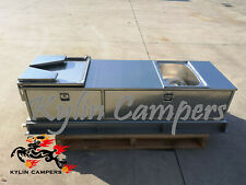 Stainless Steel Caravan Camper Trailer Slide Out Kitchen Drawers Sink BBQ Bench