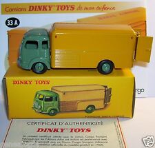 DINKY TOYS ATLAS CAMION TRUCK FOURGON SIMCA CARGO JAUNE VERT REF 33 A IN BOX