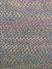 "Vintage Antique Hand Handmade Oval Wool Braided Rug 7' 10"" X 11'   (8' x 11')"
