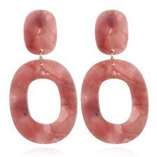 1Pair Women Acrylic Geometric Long Drop Dangle Earrings Women Statement Jewelry