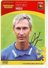 FOOTBALL carte trainer GEORG HEU équipe TRENKWALDER ADMIRA signée