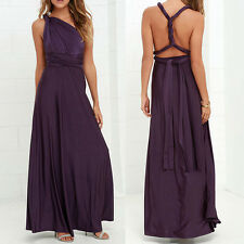 Womens Strapless Maxi Dress Ladies Bridesmaid Multi Way Party Long Lot Size S-XL
