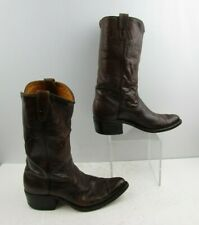 Men's Sears Brown Leather Round Toe Western Cowboy Boots Size: 8 D