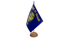 OREGON USA americana da tavolo Bandiera con di legno supporto