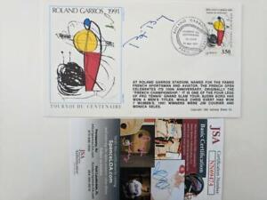 BJORN BORG SIGNED CACHET FDC FRENCH OPEN ROLAND GARROS 1991 PARIS JSA COA