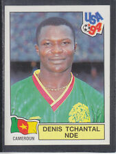 Panini - USA 94 World Cup - # 135 Denis Nde - Cameroun (Black Back)