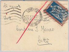 REGNO storia postale: Sass 226 singolo su BUSTA - TARIFFA Biglietto da Visita