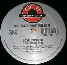 "KINGSIZE FT KELLY B - LOVE EXPRESS - 1995 DIG 017-1 DIGIT MUSIC 12"" VINYL SINGLE"