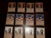 Urza's Land Antiquity Playset! x4 Power Plant, Tower, Mine, Tron Lands Magic MTG