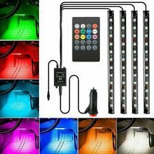 4x12 LED RGB Auto-Ambientelicht, Lichtleistengruppe, Autolicht,mit Fernbedienung