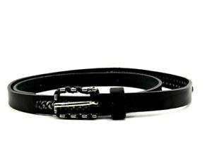 Comptoir des Cotonniers Women Skinny Leather Belt Black Size 30