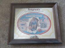 Rare Basketball Seagram's Harlem Globetrotters Wood Framed Bar Mirror 21 x 17