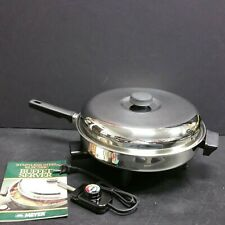 USED??? Meyer 12 inch Stainless Steel Fully Immersible Electric Skillet & Lid