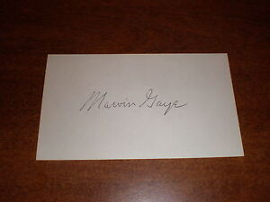 Marvin Gaye POSTCARD AUTOGRAPHED