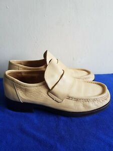 Men's Wannabe Pure Leather Shoes By Patrick Cox Uk Size7 Colour Light Yellow.