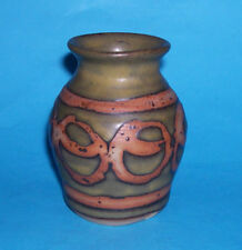 Patty Elwood Newlyn ? Studio Pottery - Attractive Abstract Wax Resist Vase (M.M)