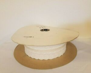 "Huge 85 Yards Spool of Natural Ivory Lace Craft Ribbon Trim 3"" Wide Vintage"
