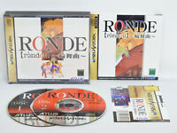 Sega Saturn RONDE with SPINE Card * Japan Game ss