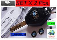2x BMW REMOTE KEY FOB LOGO EMBLEM STICKER DECAL 2 Pieces 11mm New