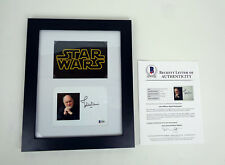 John Williams Star Wars Signed Autograph Photo Framed Beckett BAS COA