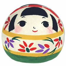 "Japanese 5""H Kokeshi Washi Paper Ningyo PATCHIRI Lucky Girl Doll, Made in Japan"