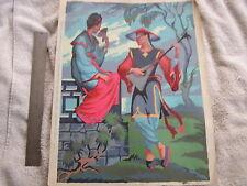 Vintage Paint by Number Oriental Serenade Canvas