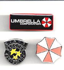 Resident Evil Logo Enamel/Metal Pin Set of 3- FREE S&H (REPI-01/2/3)