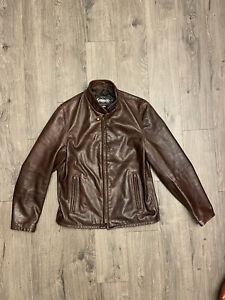 Schott 654 Cafe Racer Leather Motorcycle Jacket