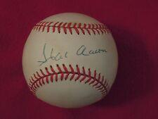 Hank Aaron Atlanta Braves Autographed Official National League Baseball