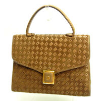 Bally Handbag Brown Gold Woman Authentic Used Y3486