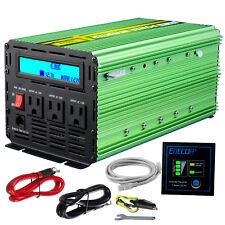 EDECOA Power Inverter 2000W 4000 Watt 12V dc to 110V 120V ac LCD Cables car  RV b1e45b2e80aef